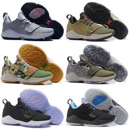 Wholesale Cheap Home Fabric - 2018 Top quality Paul George PG1 Shining Ferocity Men's Basketball Shoes for Cheap Sale PG 1 Los Angeles Home Sports Sneakers Size 40-46