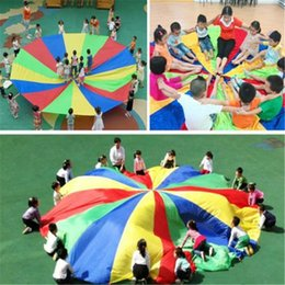 Développement des sports pour enfants Parachute arc-en-ciel extérieur Parachute Jouet Saut-sac Ballute Jouer Parachute 2M / 3M / 3.6M / 4M / 5M / 6M / 7M / 8M ? partir de fabricateur