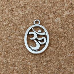 Wholesale Aum Ohm - Yoga, Aum, Om, Ohm, Sanskrit Yogi Pendant 100Pcs lot Hot sell Antique Silver alloy Jewelry DIY 14.5 x 22mm A-196