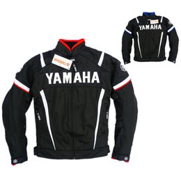 summer motorcycle jacket xxl Coupons - Free shipping Moto GP Motorcycle Racing Clothes Summer Mesh Riding Driving Motorbike Clothing Yamaha Jacket With Protectors