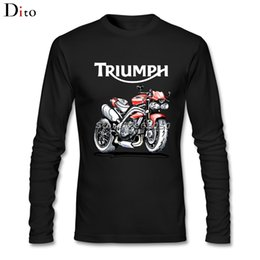 Wholesale Family Tee Shirts - Speed Triple 1050 Triumph Motorcycle Men Man's Backing Tees Shirt Fashion Long Sleeve Father's Day Custom Family Tee Shirts