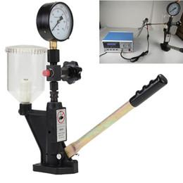 2019 obd obd2 adaptador chevrolet Calibrador de Injector de combustível Dual Scale Gauge Max 60 Mpa Bico Pop Pressão Testador 0-400 BAR Common Rail Ferramenta de Diagnóstico De Metal