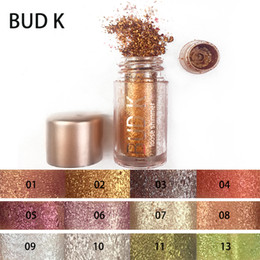Wholesale Eye Shadow Powder Pigment - BUD K EyeShadow Powter Glitter Shimmer Pigments Easy to Wear Eye Shadow Powder Make Up 12 Colors