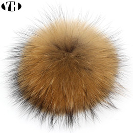 Hot sale Real Natural Raccoon  Fur Pompoms Fur Balls For Keychain and Scarves Real Pom poms customized wholesale cheap real fur pompoms от Поставщики настоящие меховые помпоны
