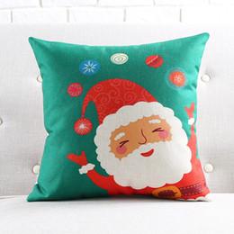 Divano di calze online-Santa Claus Cushion Cover Festival di Natale Federa di Natale Calze per cuscini Copridivano Camera da letto Decorazione Nuovo