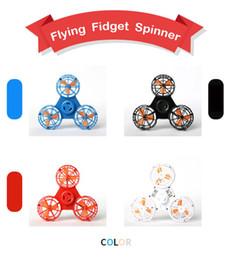 2019 beyblade atacado Voando Fidget Spinner Mini Recarregável Automático Rotativo BoniToys Tiny Toy Drone Anti-Stress Lançamento Novidade Itens 4 Cores FFA144 10 pcs