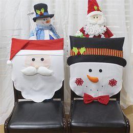 2019 acryl urlaub baum 1 STÜCKE Weihnachten Stuhlhussen Weihnachtsmann Schneemann Für Abendessen Hauptdekorationen Liefert Hotel Restaurant Party Ornamente Freies Verschiffen