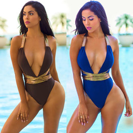 Wholesale Wholesale Bikini Swimwear - ITFABS New Summer Sexy Monokini Bikini Swimwear Women One Piece Swimsuit Tankini Bathing Suit Beachwear