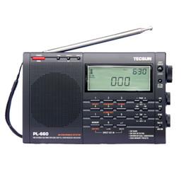 Wholesale Radio Receiver Sw - TECSUN PL-660 Radio PLL SSB VHF AIR Band Radio Receiver FM MW SW LW Multiband Dual Conversion TECSUN PL660