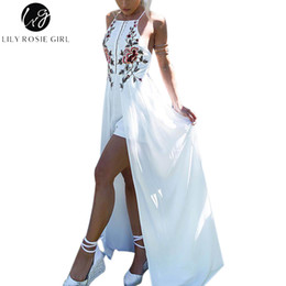 479347d1c7fa Lily Rosie Girl White Embroidery Floral Sexy Party Playsuits Split Autumn  Winter Backless Jumpsuits Short Beach Rompers Overall