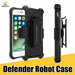 Wholesale Iphone Full Phone - Defender Series Case for iPhone 8 S9 Multi-layer Full Covered with Belt Clip Phone Shell for Samsung Note8 S8 Plus with Retail Packaging