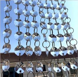 14-миллиметровые кристаллические восьмиугольники Скидка 198 футов хрустальные гирлянды пряди 14 мм прозрачный акриловый кристалл восьмиугольник бисер цепи свадьба манзанита дерево висячие украшения