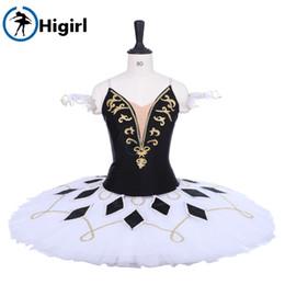 2019 trajes de bailarina adultos Paquita Clássica Ballet Stage Ballet Profissional Bailarina Tutu BT9228 Preto Branco Mulheres Adulto Bailarina Panqueca Saia Tutu trajes de bailarina adultos barato