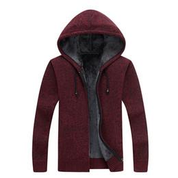 df3ce24bf73 FL AEVVE Mens Knitted Sweater Winter Warm Cardigan Jacket Hooded Velvet  Coat Male Thicken Knitwear Sweatercoat Wool Liner Zipper mens wool hooded  sweater ...