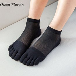 Wholesale Low Cut Toe Socks - Women Quality Cotton Five Toe Socks Low Cut Spring Summer Ultra Thin Mesh Breathable Cool No Show 5 Color Comfortable Toes Sock