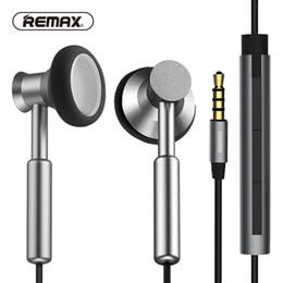 El más nuevo 100% Original REMAX Clear Metal In-Ear Auriculares con HD Micrófono de ruido aislar Heavy Bass Earbuds Cable trenzado plano para el teléfono / huawei / x desde fabricantes