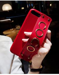 Cas de téléphone de luxe en cuir téléphone cas élégant marque Coco lettres poignet dragonne arrière couverture support étui pour iPhone X 6s 7 8 ? partir de fabricateur
