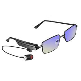 Óculos de sol livres on-line-New A6 Bluetooth 4.1 Fone De Ouvido Óculos De Sol Sem Fio Estéreo Monaural Esportes Música Hands-free Bluetooth Headset Fone De Ouvido para Smartphone