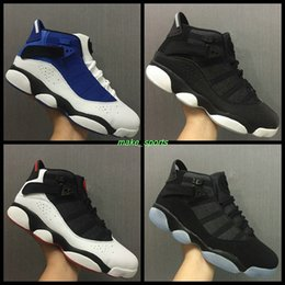 Wholesale Increase Ring - Air Retro 6 six rings (91 92 93 94 96 97 98)for mens Basketball Shoes sneakers black white blue retros 6s sports shoes Alternate eur 40-45