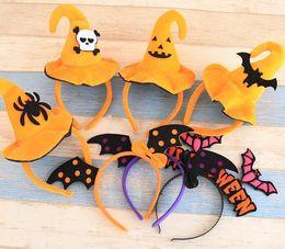 2019 dipinti di ringraziamento Halloween party head wear per bambini Halloween varietà di fasce carino zucca pipistrello bambini adulti Halloween party dress up
