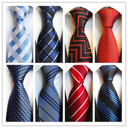 2019 TIE moda caliente corbata para hombre lazos clásicos formal boda negocio azul rojo marino raya corbata para hombre accesorios empate novios desde fabricantes