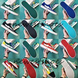 Wholesale old pvc women - 2018 Newest Revenge x Storm 3 Old Skool Green Blue Black Red Yellow Mens Women Canvas Shoes Kendall Jenner Ian Connor Skate Sneakers
