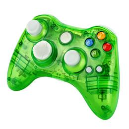 xbox verde Rebajas Green Gamepad USB con cable Joypad Controller para Microsoft para Xbox 360 para PC para Windows7 Black Color Joystick Game Controller