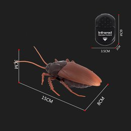 Wholesale Boy Jokes - Coolmee Toys For Children Novelty Funny Electronic Remote Cockroach Boy Girls Toy Pets Interesting Quiz Joke Birthday Gifts Toy