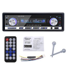 Wholesale wholesale car radios - Autoradio 1 Din 12V Car Audio BLUETOOTH Stereo In-dash FM Receiver Aux Input USB SD Audio MP3 Car Radio JSD-20158