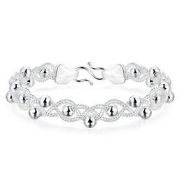 JEXXI Meilleure Qualité Réel 925 En Argent Sterling De Mode Ball Femme Bracelets Bracelets De Mariage De Fiançailles De Mode Bijoux ? partir de fabricateur