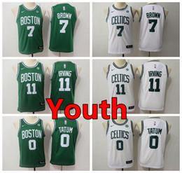 e3cc0cd40225 New Youth 11 Kyrie Irving Boston Jersey Celtics Kids Basketball Jersey  Stitched Celtics 7 Jaylen Brown 0 Jayson Tatum Boys Basketball Jersey