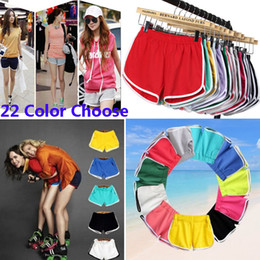 Wholesale wholesale yoga clothing for women - 22 Colors Women Cotton Shorts For Yoga Sports Gym Homewear Fitness Pants Summer Shorts Beach Running Home Clothing Pants HH7-1215