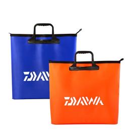 Sacos de embalagem laranja on-line-Laranja Azul Saco de Enfermeira de Pesca À Prova D 'Água Pacote De Artes De Pesca Reforçar Suprimentos Ao Ar Livre Da Pesca Venda Direta Da Fábrica 17 hs X