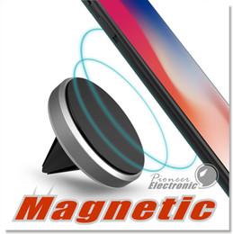 Автомобильный держатель клип для смартфонов универсальный премиум магнитный воздухоотводчик алюминиевая рама держатели для iPhone 6 7 Plus с розничной упаковке от