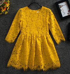 Wholesale Red 12 Mo Dresses - Vieeolove Girls Kids and Mothers Knitting Dress Family Dress Lace Tutu 2018 New Summer Chiffon Fashion Long Sleeve Bow Dress YAN-819