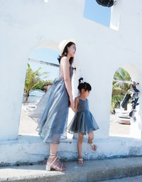 Wholesale New Look Fashion Dress - Summer Style Mom And Me Dress Mother Daughter Dresses Family Look New Fashion Matching Beach Holiday Dress Mother Daughter Clothes A8834