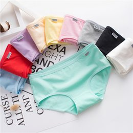 Wholesale Womens Xxl Clothing - 10 pieces Women Panties S-XXL plus size lingerie kids underwear candy womens cotton crotchless clothing Girls clothing boys pink