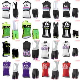 Wholesale Bib Shorts Cycling Jersey Woman - LIV team Cycling Sleeveless jersey Vest (bib)shorts sets Cycling Clothing High Qualiy women maillot ciclismo E0808