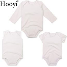 Branco Recém-nascido Bodysuit 3 6 9 12 18 24 Mês Do Bebê Meninas Roupas  Macacão Roupas Unisex Algodão Bebês Meninos Camisas Regatas Romper 3bbc4a1ce09