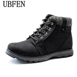 Wholesale England Shoes For Men - 2017 Super Warm Men's Winter Leather Men Waterproof Rubber Snow Boots Leisure Boots England Retro Shoes For Men Big Size39-45