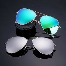 Wholesale Pink Drivers - Brand Designer sunglasses Men Women Pilot sun glasses uv400 Eyewear aviator glasses Luxury driver metal frame Polaroid Lens Driving Cases