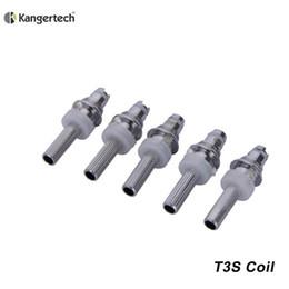 2019 bobina de substituição elips 50 pçs / lote Original Kangertech T3S Bobina De Aquecimento 1.8ohm 2.2ohm 2.5 ohm Atomizador Núcleo De Reposição Para Kanger T3S Atomizador