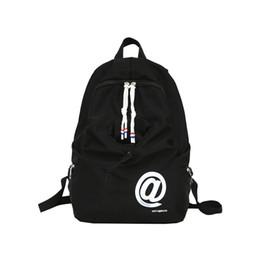 2019 borsa di disegno della borsa Studente della Corea Scuola di stile Sacchetto impermeabile doppio della spalla del Fashion Design e Bella colori Boy Girl Student Zaino borsa di disegno della borsa economici