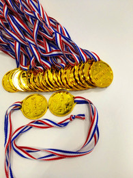 Crianças Crianças Plástico Ouro Winners Medalhas Sports Day Party Bag Prêmio Prêmios Brinquedos Para Crianças Festa de Diversão de