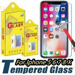 Protector de pantalla protector de rotura online-Protector de pantalla de vidrio templado Film Guard 9H Dureza Explosión Shatter Film para iphone 5 6 7 8 Plus X XR XS Max htc s6 s7 s8 s9