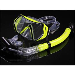 2019 immersioni subacquee Nuovi occhialini da immersione professionali per uomo e donna Swim Snorkel Adulto Scuba Monofin Tube Snorkeling Swimming Glasses Diving Mask immersioni subacquee economici
