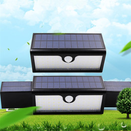 Wholesale wide angle sensor - 71 LED Solar Lights Outdoor Motion Sensor Solar Wall Lamp with Wide Angle Illumination Waterproof Home Security Light for Patio Yard Garden