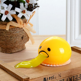 Wholesale Egg Squishy - Cute Vomiting Egg Vent Phone Straps Squishy Anti Stress Scented Halloween Jokes Kids Toy Gift Funny Novelty