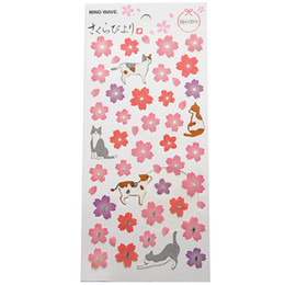 Wholesale decorative stickers scrapbooking - Beautiful Sakura Stationery Diary Stickers Decorative Mobile Stickers Scrapbooking DIY PVC Stickers Children Loved Baby Room Decoration