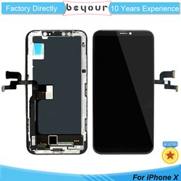 Wholesale Oled Iphone - New Arrival LCD for iPhone X OLED Touch Screen Display with Frame Digitizer Replacement Repair Parts Black